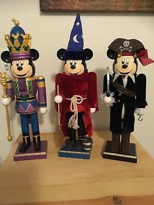 Disney Mickey Mouse Pirate Sorcerers & King Nutcrackers Lot