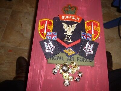 Collection British/usa Military Patches Metal Buttons Collectable