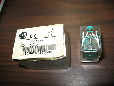 New Allen Bradley 700-HC54Z12 Relay (12 VDC, 14 Pin Square)