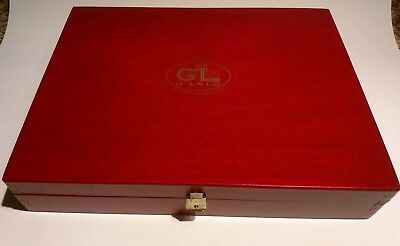 Vintage G. Lalo Wood Writing Lap Desk with Stationary