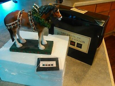 Trail of  Painted Ponies.Christmas Clydesdale.#12203.1E.2004..