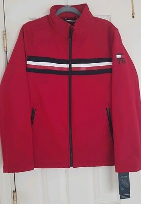 Tommy Hilfiger Mens Red Jacket New,Size S,Water resistant,Breathable