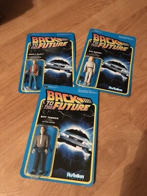 Back To The Future Action figures Marty McFly Doc Brown Biff Tannen