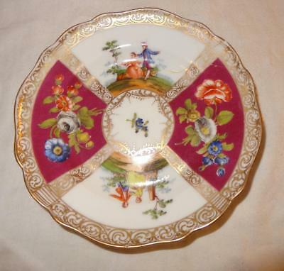 19Th Century Meissen German Porcelain Plate