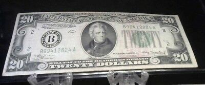Twenty Usa Currency $20 Dollar Bill In Great Shape From 1934!