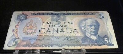 1979 Canada 5 Dollar Bank Note