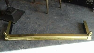 Vintage Brass Fire Place Extendable Fender Surround