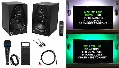 Rockville Home Theater/Karaoke Machine System, Bluetooth+LED's+Microphone+Remote