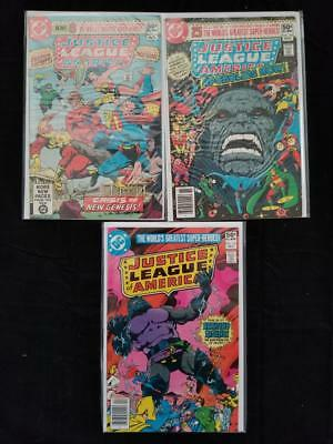 Justice League Of America 3 Issue Comic Run #183-185 New Gods Darkseid Jsa