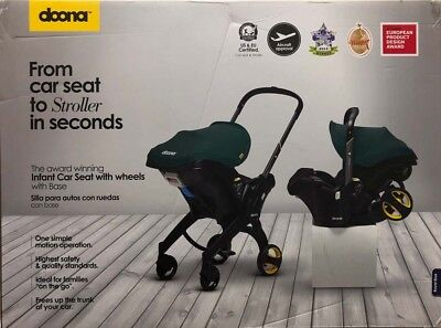 Doona Infant Baby Car Seat Travel Stroller Royal Blue with Latch Base NEW 2019