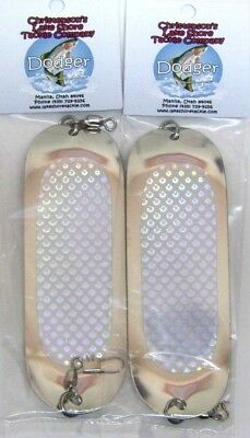 """Danielson Trout Dodger Flasher Trolling SIZE 00 DDCHR 6/"""" Long 2 Pack Silver"""
