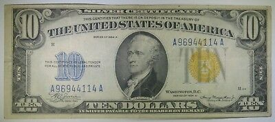 1934-A $10 North Africa Emergency Issue Ten Dollar Silver Certificate