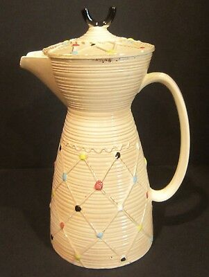 Rare Wales Antique Vintage Made In Japan Ceramic Pitcher & Lid Or Coffee Tea Pot