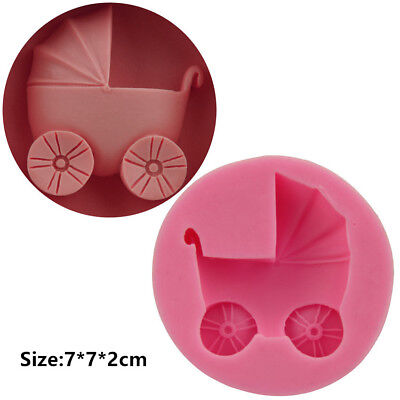 Baby Carriage Silicone Cake Mould Fondant Sugar Craft Chocolate Decorating Tools