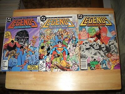 Legends # 1, 2, 3 Comic Lot Fine/fine+ 1St Amanda Waller & 1St Suicide Squad Lot