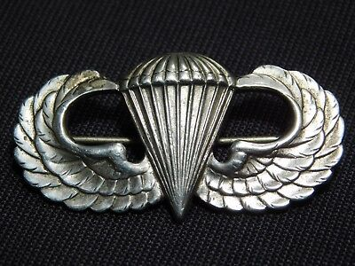 WWII US Army Airborne Jump Wing Paratrooper Sterling Pin Badge