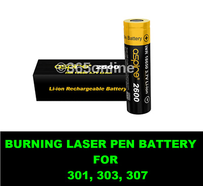 BURNING LASER REACHABLE BATTERY High Capacity   For 301, 303, 307