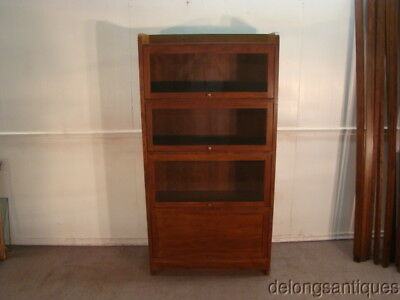 21285:Stickley Solid Cherry Barrister Style Bookcase