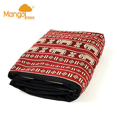 Protector Cover Case For Jumbo Size Thai Triangle Cushion Daybed RedEle