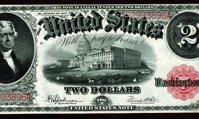 $2 1917 United States Note - Legal Tender  ** MORE CURRENCY FOR SALE **