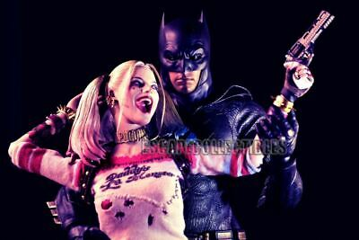 Get Some Crazy in Your Life Harley Quinn and Batman Signed Print Pete Tapang