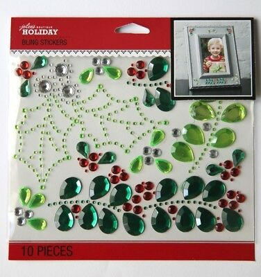 Jolee's Boutique Holiday Stickers - Holly & Mistletoe Bling