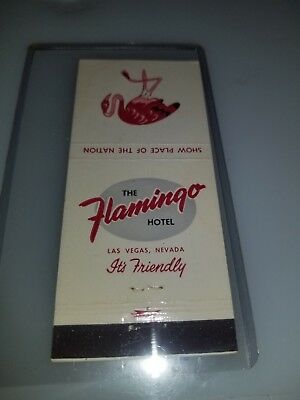 Vintage Matchbook Cover The Flamingo Hotel And Casino Las Vegas