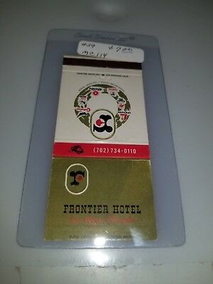Vintage Matchbook Cover Frontier Hotel And Casino Las Vegas