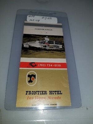 Vintage Matchbook Cover Frontier Hotel And Casino Las Vegas Nevada