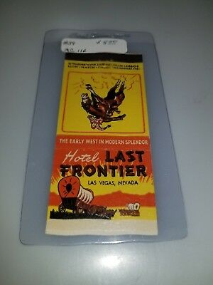 Vintage Matchbook Cover Last Frontier Hotel And Casino Las Vegas Nevada