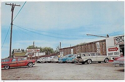 (#3041) Old Postcard  Cars at  World Famous GHOST TOWN  north of  Caldwell Idaho