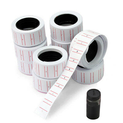 10 Rolls Price Tags Paper Labels Sticker Gun Labels Sale for MX-5500 with 1 ink
