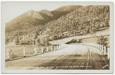 (#2959) Old Sanborn RPPC Wilkerson Pass Between Colorado Springs & South Park CO