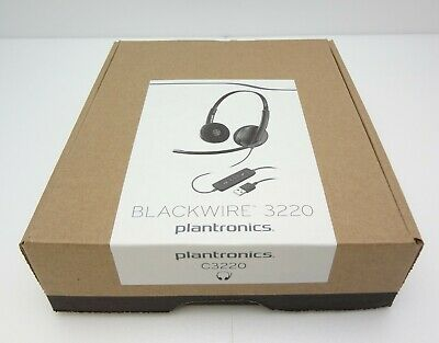 36466248671 Plantronics Blackwire C3220 Binaural USB Type A Over-The-Head Corded UC  Headset