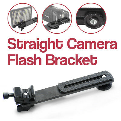 "6.3"" Straight Flash Bracket 1/4""-20 Screw Hot Shoe Mount for Camera Tripod"