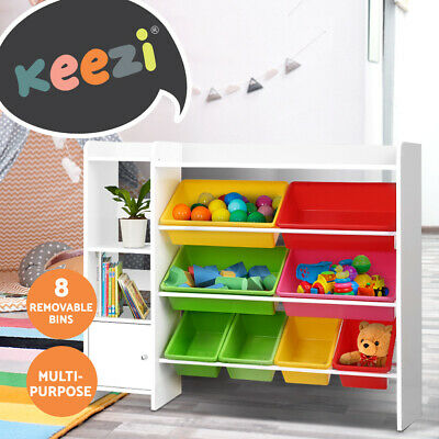 Artiss 8 Bins Kids Toy Box Storage Organiser Display Bookshelf Drawer Cabinet