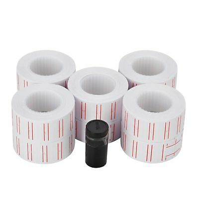 20 Rolls Price Tags Paper Labels Sticker Gun Labels Sale for MX-5500 with 2 ink