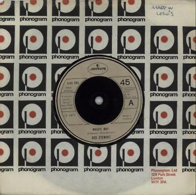 "Rod Stewart Maggie May - Beige injection UK 7"" vinyl single record 6160006"