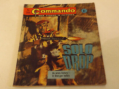 Commando War Comic Number 223 !!,1966 Issue,very Good For Age,52 Years Old,rare.