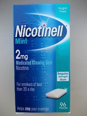 Nicotinell Mint 2mg Medicated Chewing Gum - 96 Pieces