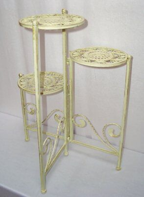 G110: Nostalgia Blumenetagere, Plant Stand,Flower Stand with Three Levels, Iron