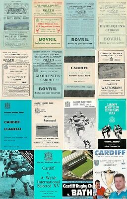 Cardiff Rfc, Wales Home Rugby Programmes 2005 - 2012 Welsh English Clubs Good +