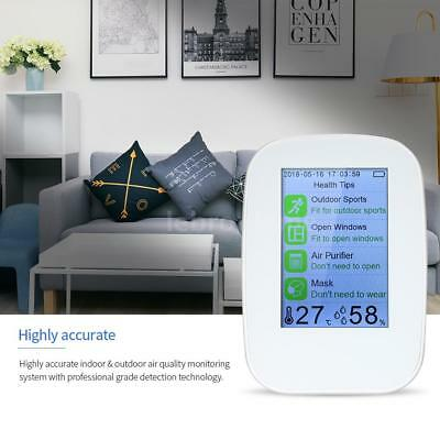 Air Quality Monitor Carbon Dioxide Detector HCHO TVOC Temp Humidity Meter S5E7