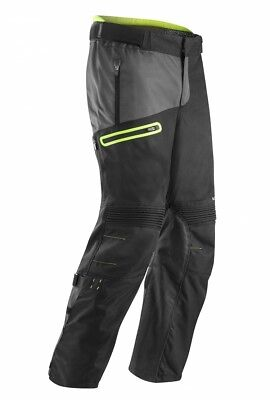 Pantaloni Pants Enduro One Gamba Larga Acerbis Baggy Nero Giallo Fluo Tg 34 (48)
