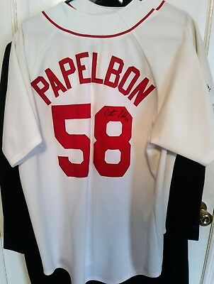 cdd4f31a7 ... coupon code for jonathan papelbon autographed hand signed boston red  sox jersey fenway park 08c51 1a215