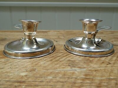 A Pair of Vildiridis Solid Silver Candle Holders - Boxed