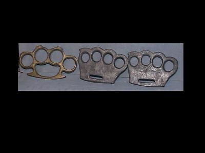 LOT OF 3 Vintage BRASS KNUCKLES pendant