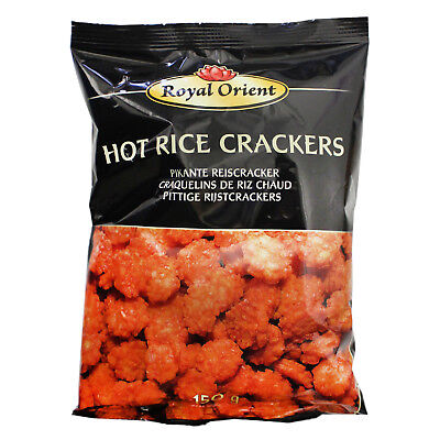 Royal Orient scharfe Hot Reiscracker 150g Rice Cracker Hot Reis Cracker scharf