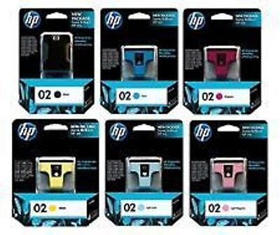 HP 02 Vivera GENUINE Ink Cartridges Color Set