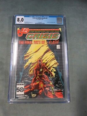 Crisis on Infinite Earths #8 CGC 8.0 George Perez Cover, Death of the Flash